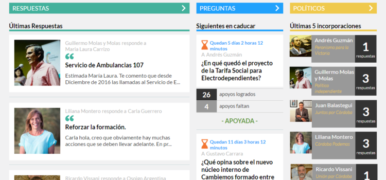 Políticos de toda la provincia de Córdoba responden en osoigo.com.ar