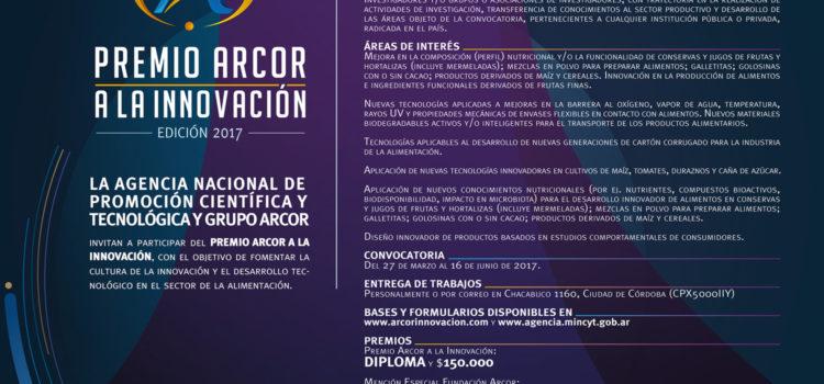 Premio Arcor a la Innovación abre la convocatoria 2017 a Pymes e investigadores argentinos