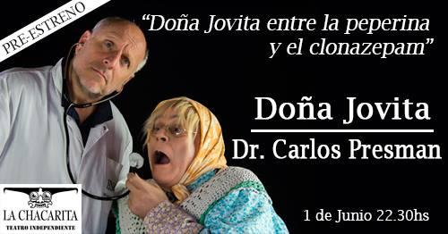 Doña Jovita entre la peperina y el clonazepam