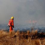 Había peligro extremo para el desarrollo de incendios forestales y comenzó uno en Santa María de Punilla