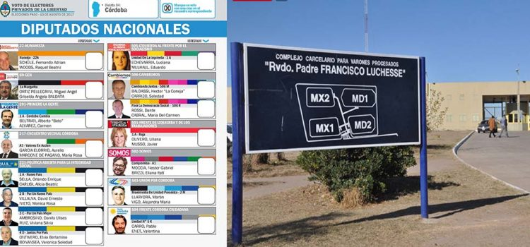 Así votaron los presos de Córdoba en las PASO