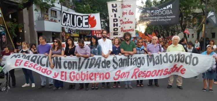 Marcha exigiendo justicia por Santiago Maldonado