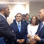 """El paso del ex presidente Obama por Córdoba: """"selfies"""", economía """"verde"""" y normalidad"""