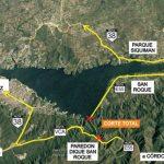 Instalan una grúa y hay un corte en la E-55 a la altura del dique San Roque