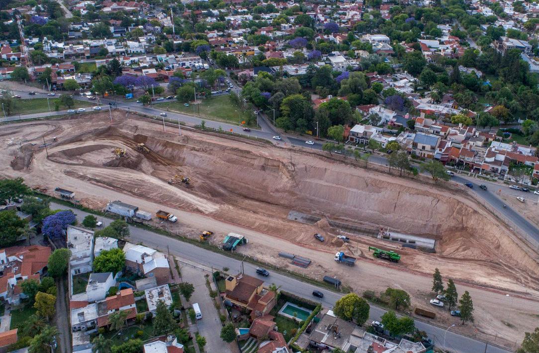 La zona donde se están realizando las excavaciones para la obra de la  Circunvalación. Foto  Prensa Gobierno de Córdoba. 2089548bff6