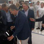 Una señal para 2019: Héctor Baldassi y Mario Negri acompañaron al presidente en Fiat