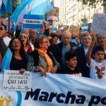 Una multitud participó de la marcha anti-aborto, pero hubo menos gente que en el #8M