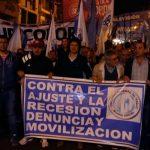 El paro nacional de la CGT contra la política económica nacional comenzó con una vigilia en Córdoba