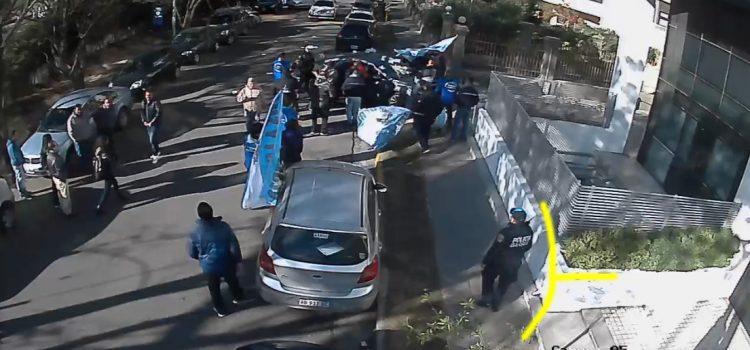"""EPEC """"floja de papeles"""": el video que muestra la protesta y la tranquila intervención policial"""