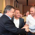 """Juez y Baldassi acompañaron a Negri: """"La grieta se cierra con justicia y no con impunidad"""""""