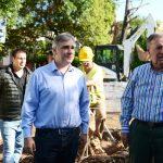 En modo candidato: Llaryora se mostró con Schiaretti en una obra en Villa Libertador