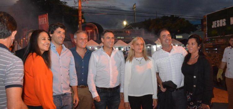 Mestre, Rodríguez Machado y Frizza juntos en el Festival de la Doma y el Folklore