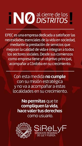 Cierre distritos EPEC